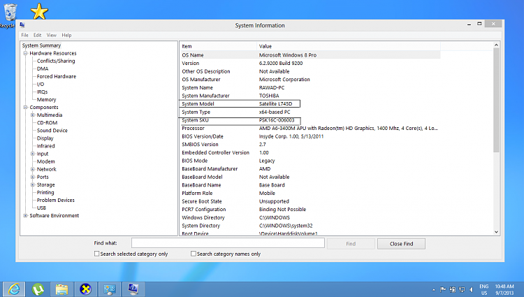 Toshiba L745D Flash Card Settings...-modelnum.png