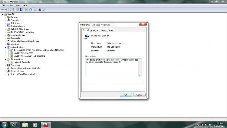 Windows 7 32 Bit - Wireless Driver Intel 7200 AGN - Code 31 Error-devicemgr.jpg
