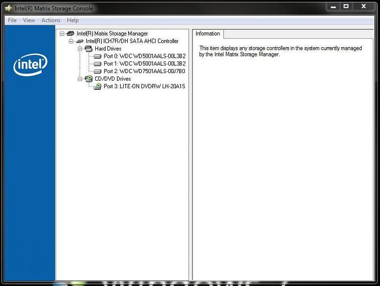 intel matrix storage manager (raid) driver for windows 7