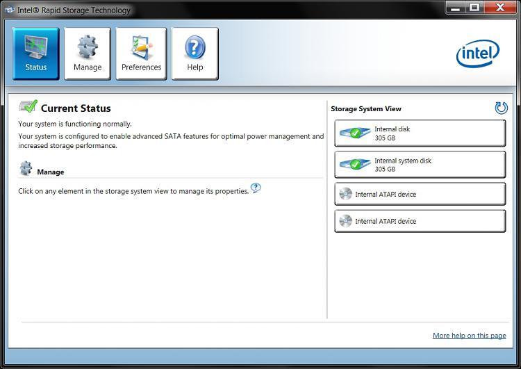 Intel Rapid Storage Technology