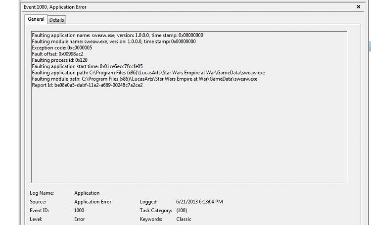 Star Wars Empire At War suddenly crashing at startup (Details inside)-error.jpg