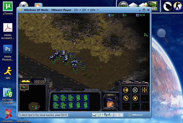 I got StarCraft working perfectly in VMware XP Mode!-starcraft-xpm.jpg