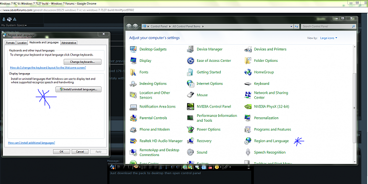 Windows 7 RC Vs Windows 7 7127 build-language.png