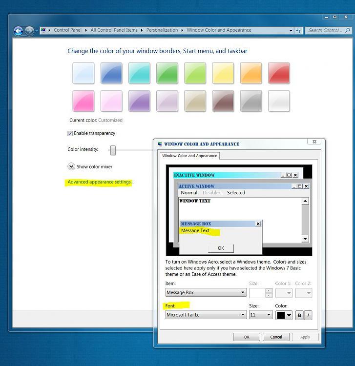 Personalize->font size 125%: windows drawn wrong-font.jpg