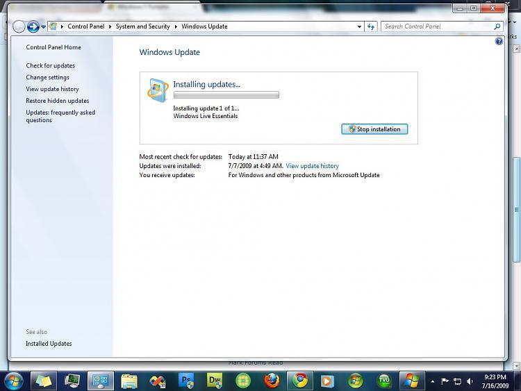 Windows 7 Build 7264 Windows Live Essensials update?-update.jpg