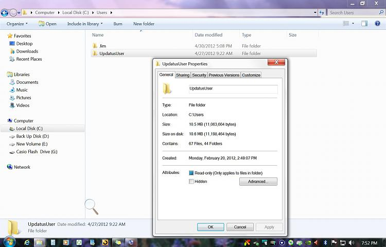 How do I delete C:/user/updatususer and public files or should I?-updataus.jpg