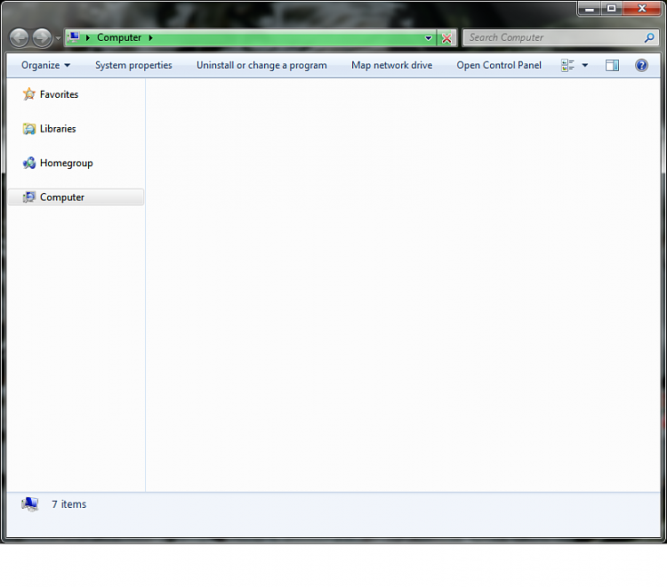 Windows Explorer - Control Panel and Computer windows empty on opening-progress-bar.png