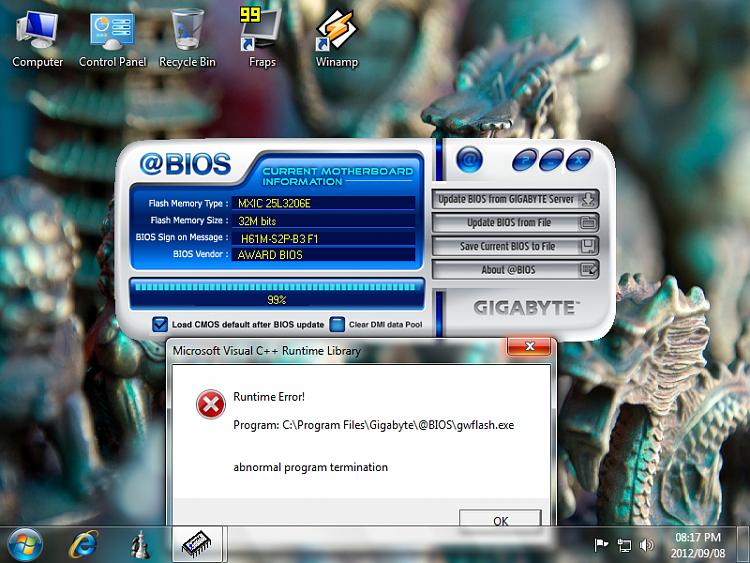 Windows 7 32bit / Gigabyte @BIOS Solved - Windows 7 Help Forums