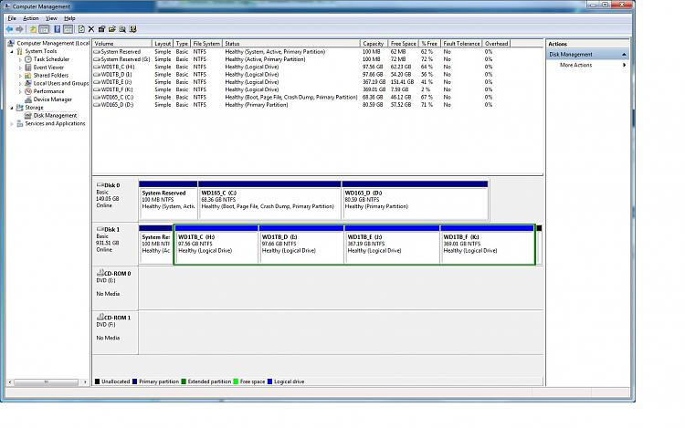 Reinstalled Windows 7  Multi-Partition Drive (Basic Disk now Dynamic)-computermanagement.jpg