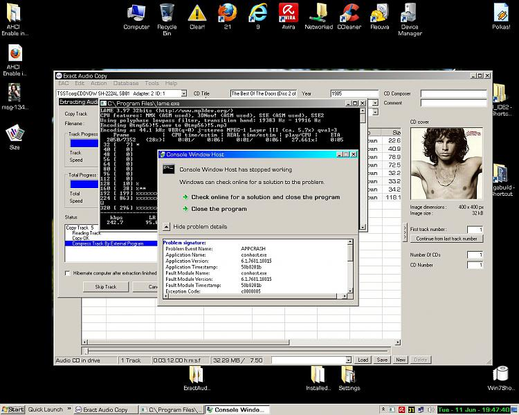 Console Window Host crash in lame.exe/Exact Audio Copy-rip.jpg