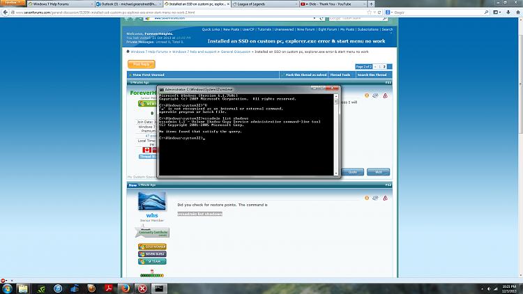 Installed an SSD on custom pc, explorer.exe error & start menu no work-untitled.png