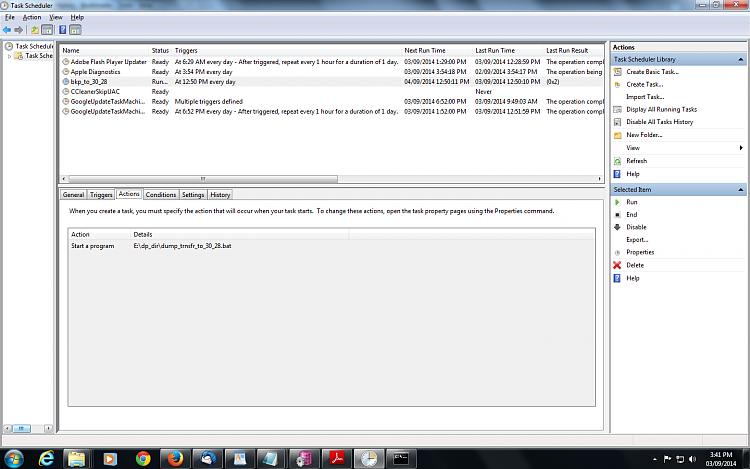 robocopy script is not working through Scheduler-action-tab.png