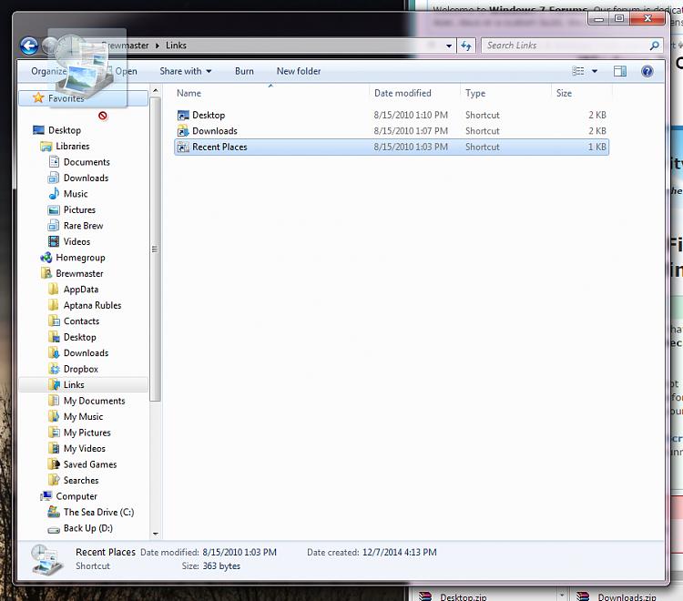 Windows Explorer Navigation Pane Problems-nofavorites.png