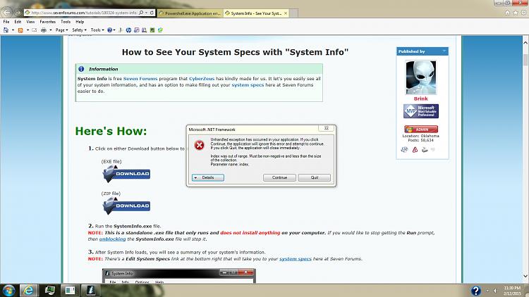 ipconfig.exe application error 0xc0000142