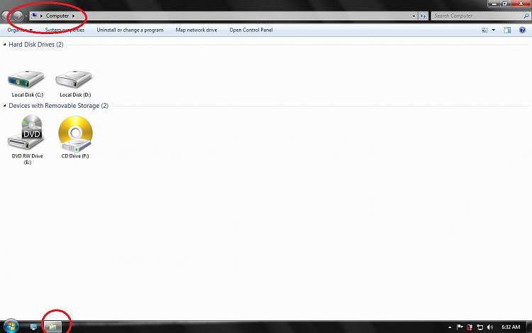"""My Computer"" Icon shows as Folder in Taskbar-error.jpg"
