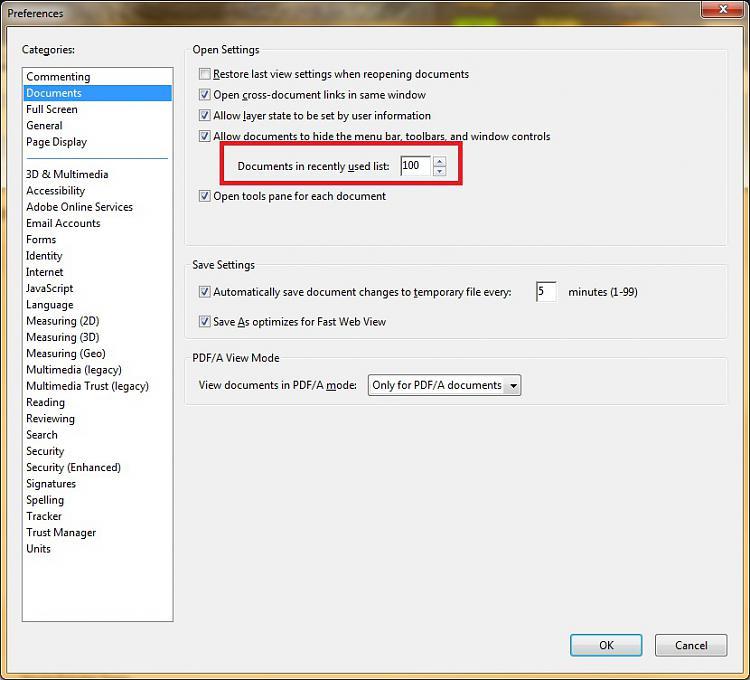 add pdf file to adobe reader recent file list-adobe-acrobat-settings.jpg