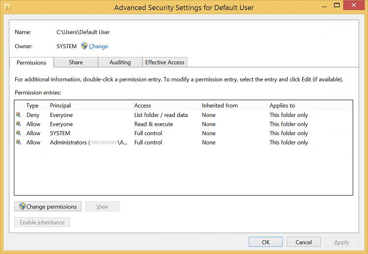 "The default security settings of the ""Default Folder"".-defaultuserperms.png"