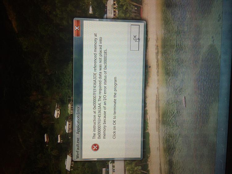 Application error message after starting up windows.-img_4743.jpg