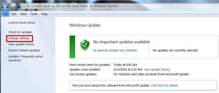 Windows 7 Clean Install constant shut down-change-update-settings.jpg
