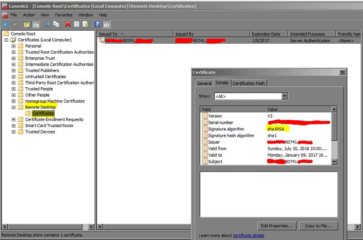 SHA2 Self Signed Cert - Windows 7 Help Forums