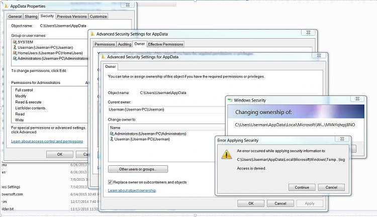 Taking Ownership of folders Does Not Work - Win 7 Ultimate-errorappdatapermissions.jpg