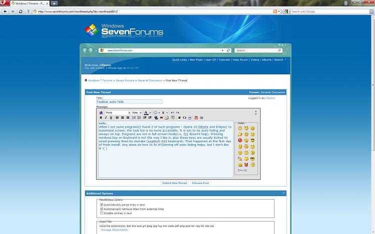 Taskbar auto-hide - Windows 7 Help Forums
