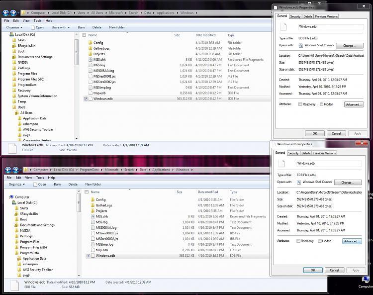 Windows.edb file. Why two of them on C drive?-2010-04-11_033448.jpg