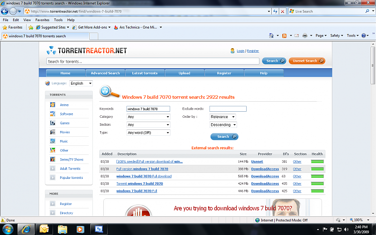 Windows 7 build 7070 on downloads-windows-7-build-7070.png