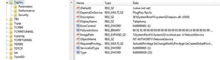 Telephony Services not available under services.msc list-tapisrv_regedit_snapshot.png