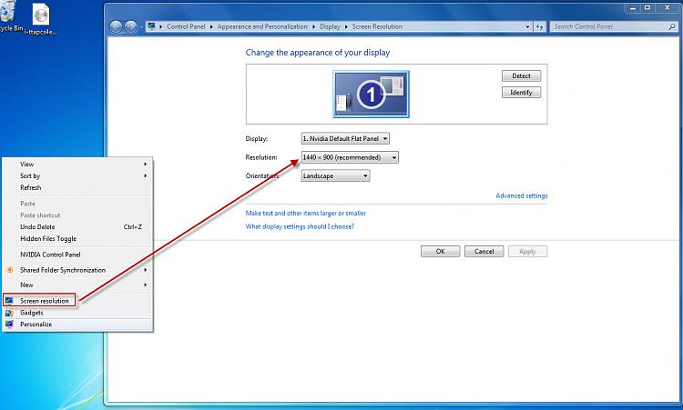 How do I change laptop resolution? - Windows 7 Help Forums