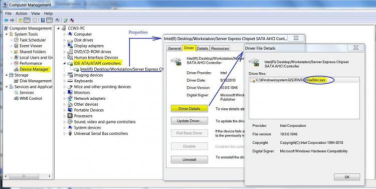 Bios settings re new SSD boot drive & MB Sata connectors-ahci-driver-check.jpg