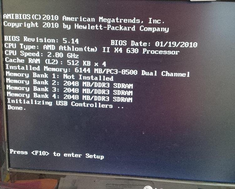 HP Pavillion p6310y stuck on start black screen with white text?-evangelion.jpg