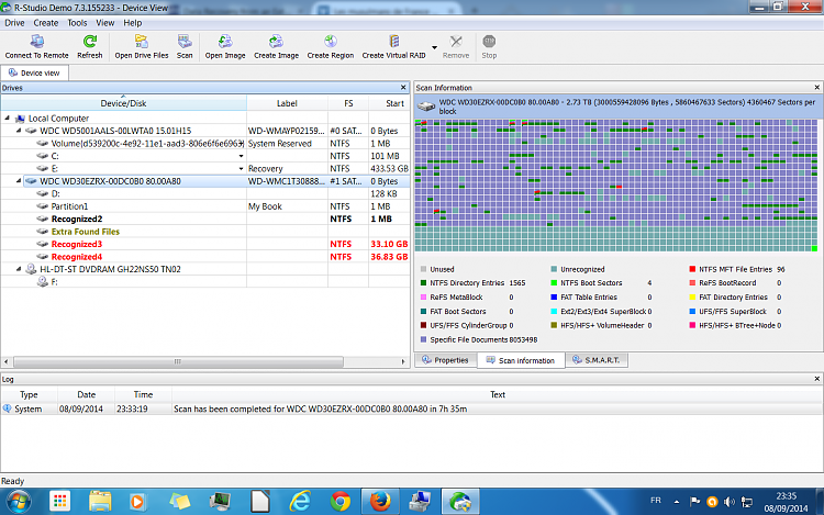 Western Digital 3 TB problem - RAW & unalocated-100percent.png