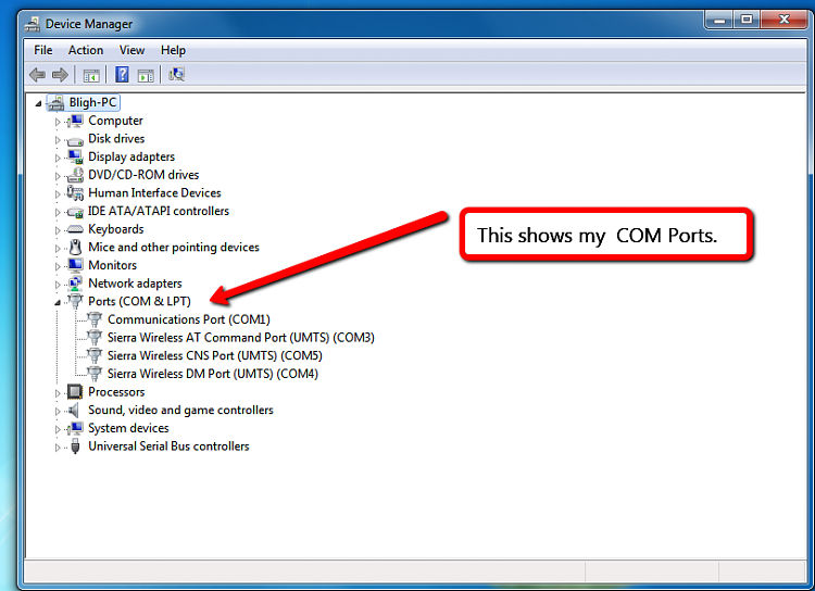 Serial port windows 7 problem