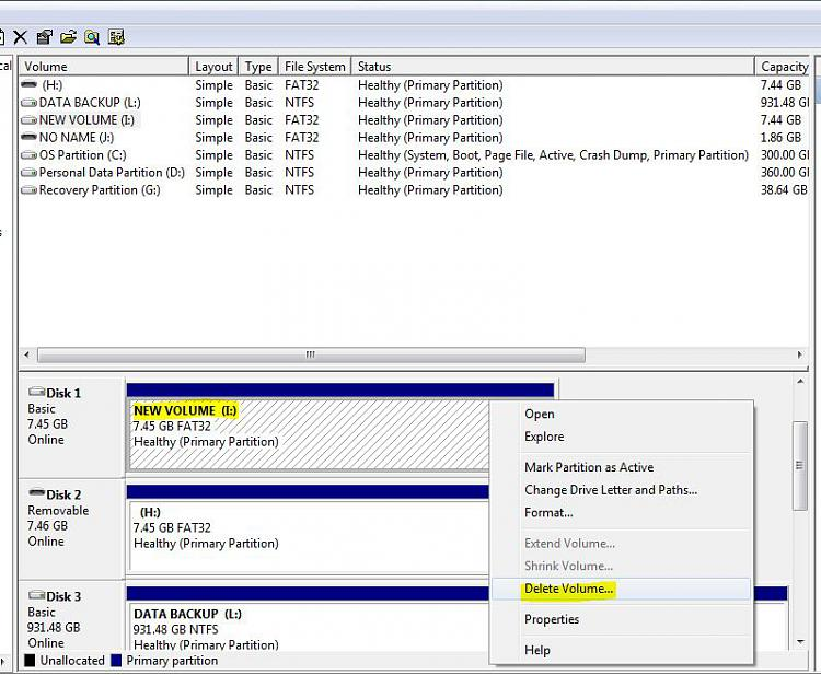 USB Flash Drive is identified as a Hard Disk Drive - Windows