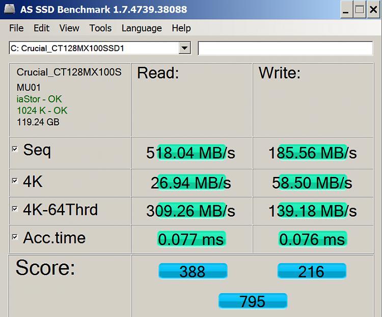 Crucial SSD Performance - Windows 7 Help Forums