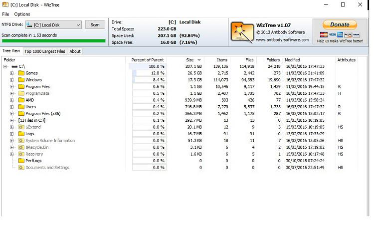 Is my SSD Dying? 200GB missing-wiztree.jpg