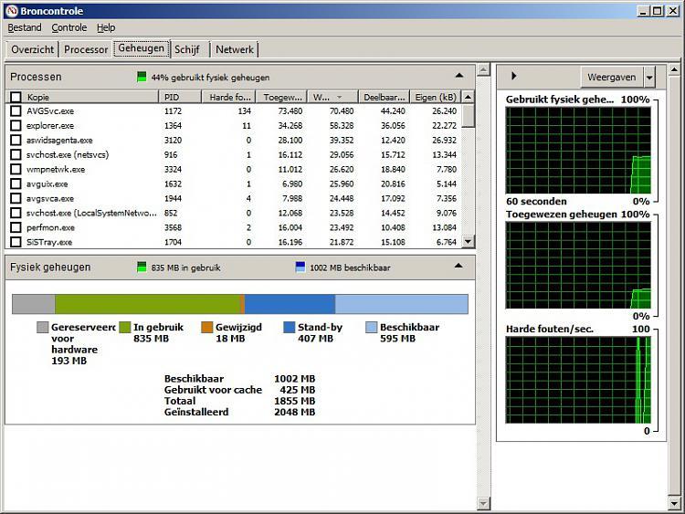 Win7(64bit) shows 3gb RAM usable but Vista (32bit) shows full 4gb Ram-2gb_resmon_827.jpg