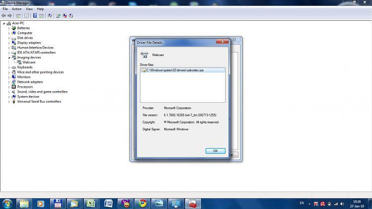 ACER Crystal Eye and Windows 7 - Windows 7 Help Forums