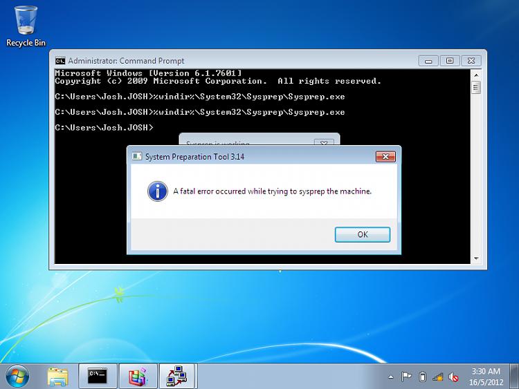 Sysprep Disaster - Windows 7 Help Forums