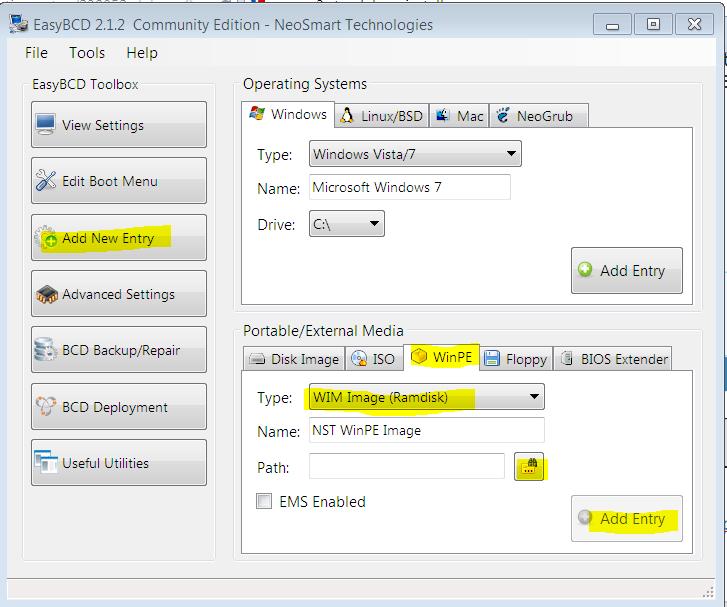 Debugging BOOTMGR/BCD at boot time using BCDEDIT-recov-wim.png