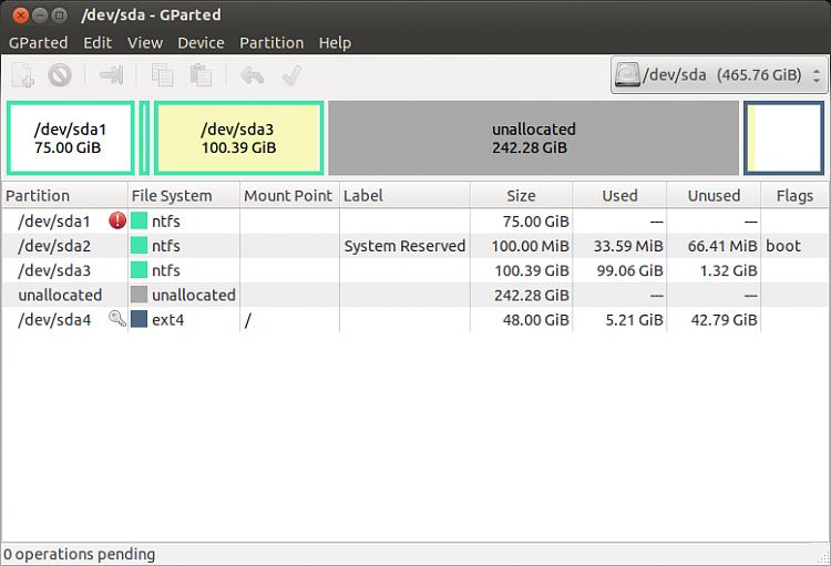 BSOD after Ubuntu installation, 0x0000007B error-gparted1.png