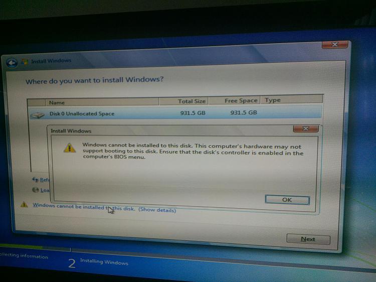 trouble installing win 7 ultimate 64x error 0x80070057-img_20131229_101155.jpg