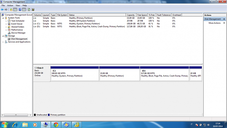 windows 7 system partition active