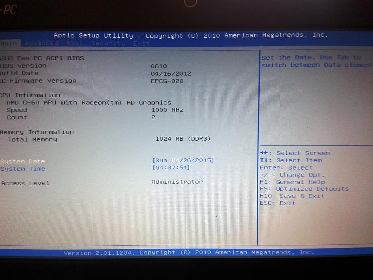 Asus EEE 1015bx shuts down during clean Win 7 installation-20150426_093723.jpg
