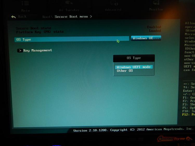 Installing Windows 7 Professional 64-bit on a Asus UEFI