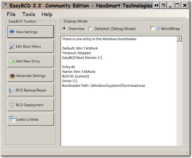 How can I remove a DUPLICATE entry in BootMenu-win7dup-bcdgui.jpg