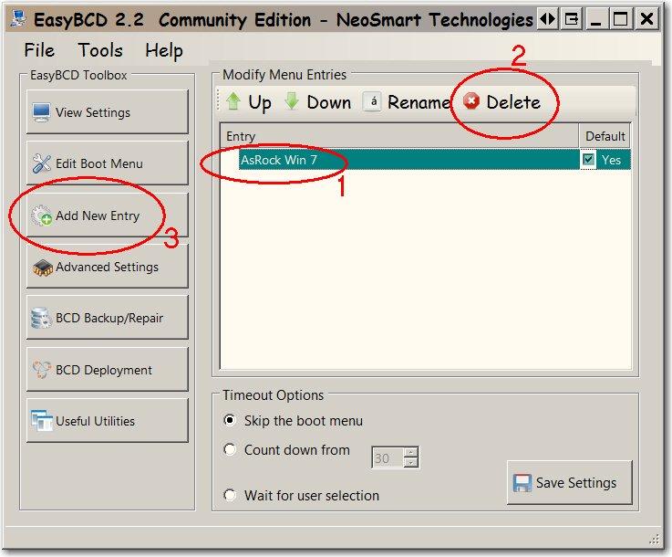 How can I remove a DUPLICATE entry in BootMenu-shot1668.jpg