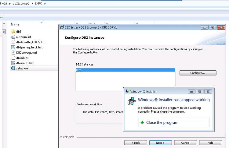 DB2 C-Express installation - Windows Installer has stopped working-windows-installer-issue.jpg