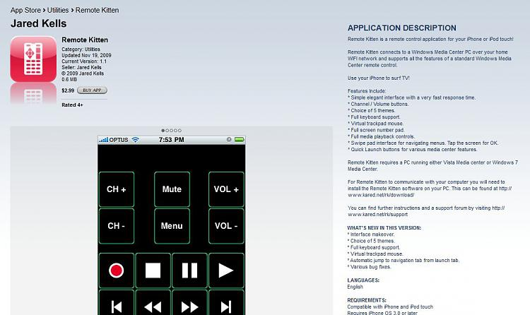 Use iPhone as Media Center Remote-remotekittenpaid.jpg